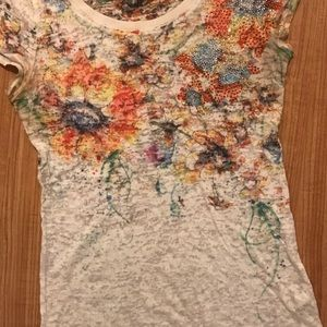 Unique flowery top with jewels